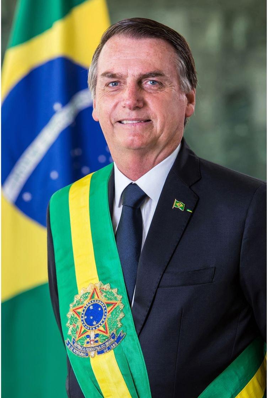 Foto Oficial do Presidente da República, Jair Bolsonaro.