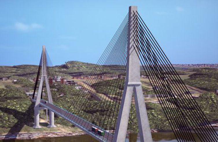 Ponte entre Brasil e Paraguai